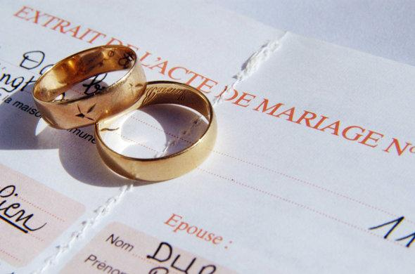Demande d'acte de mariage