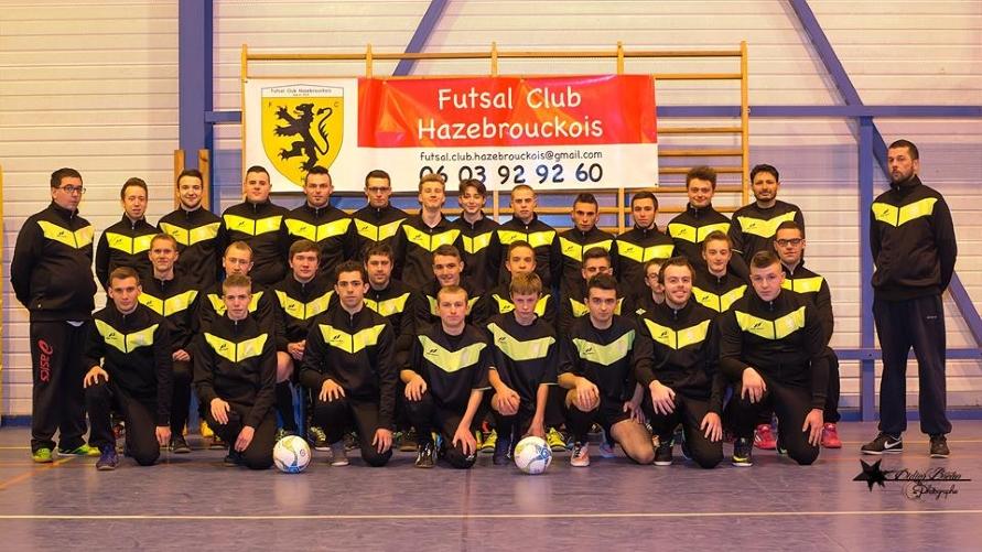 L'équipe du Futsal Club Hazebrouckois
