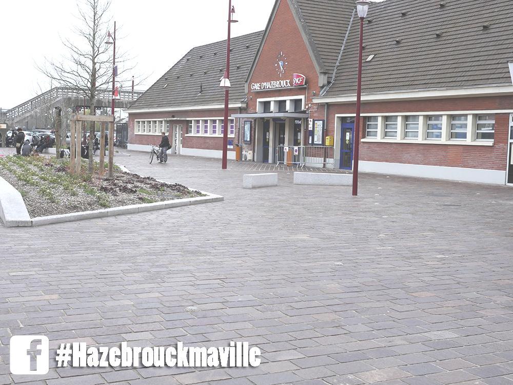 Travaux de pavage rue Biebuyck, rue Nationale et autour du Parvis de l'Europe