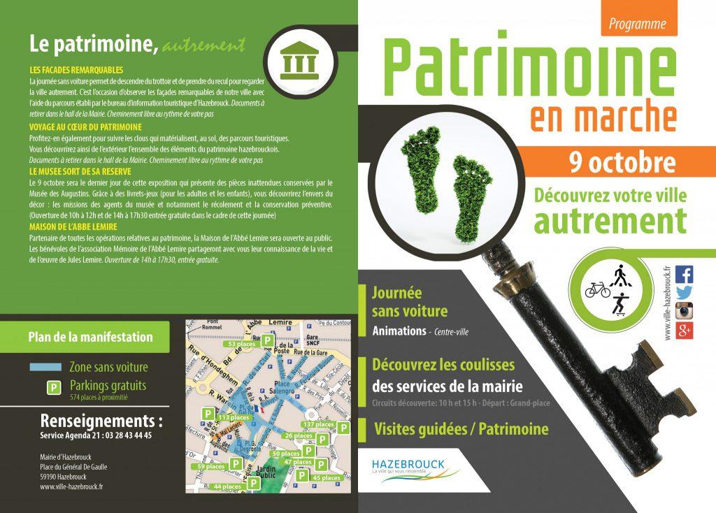 Patrimoine en marche /// Dimanche 9 octobre /// Programme