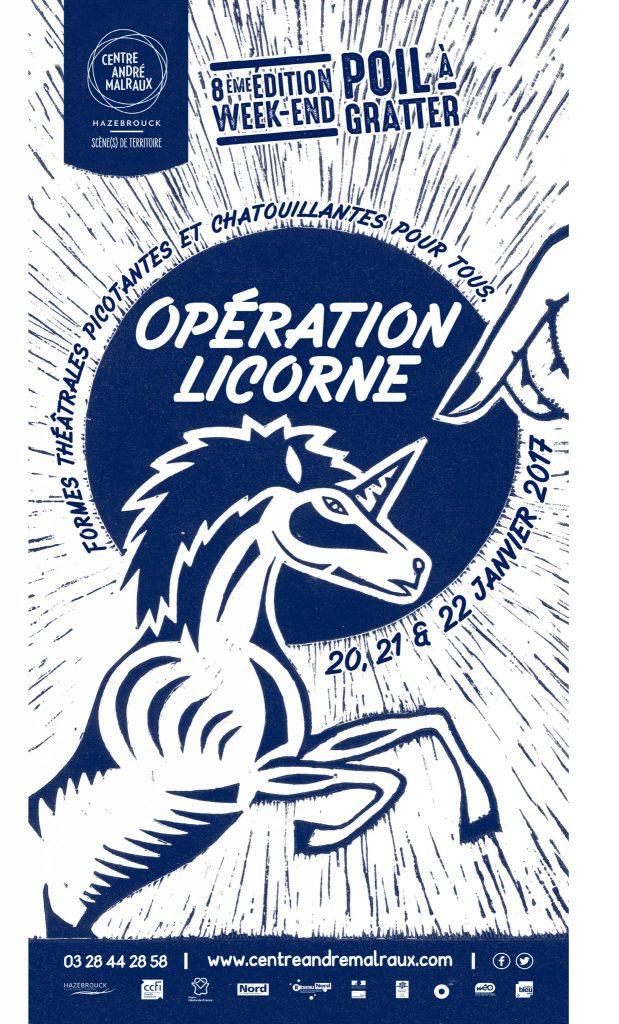 Week-end poil à gratter :Opération Licorne