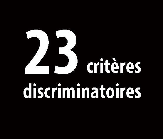 23 critères de discriminations