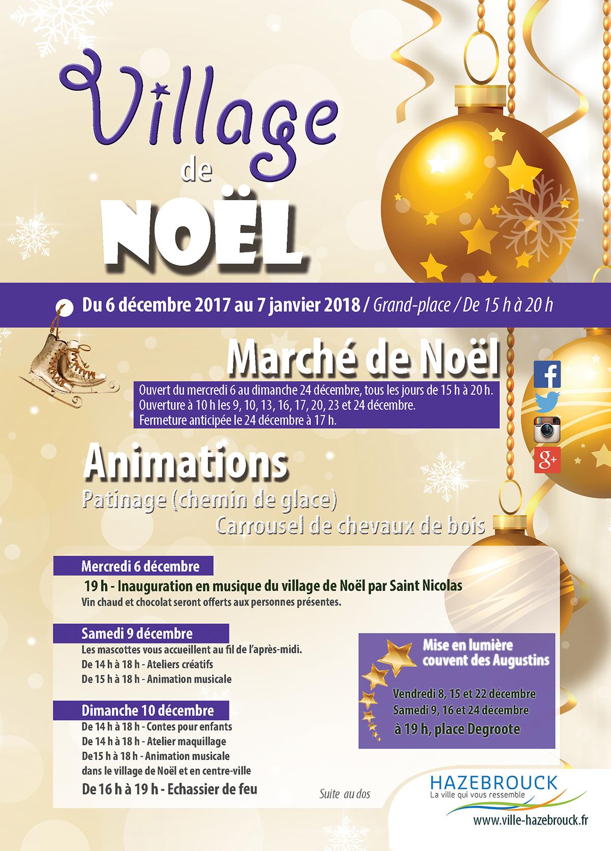 noel hazebrouck 2018 Le Village de Noël d'Hazebrouck, découvrez le programme !   Ville  noel hazebrouck 2018