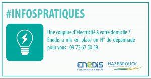 Dépannage Enedis coupure d'électricité