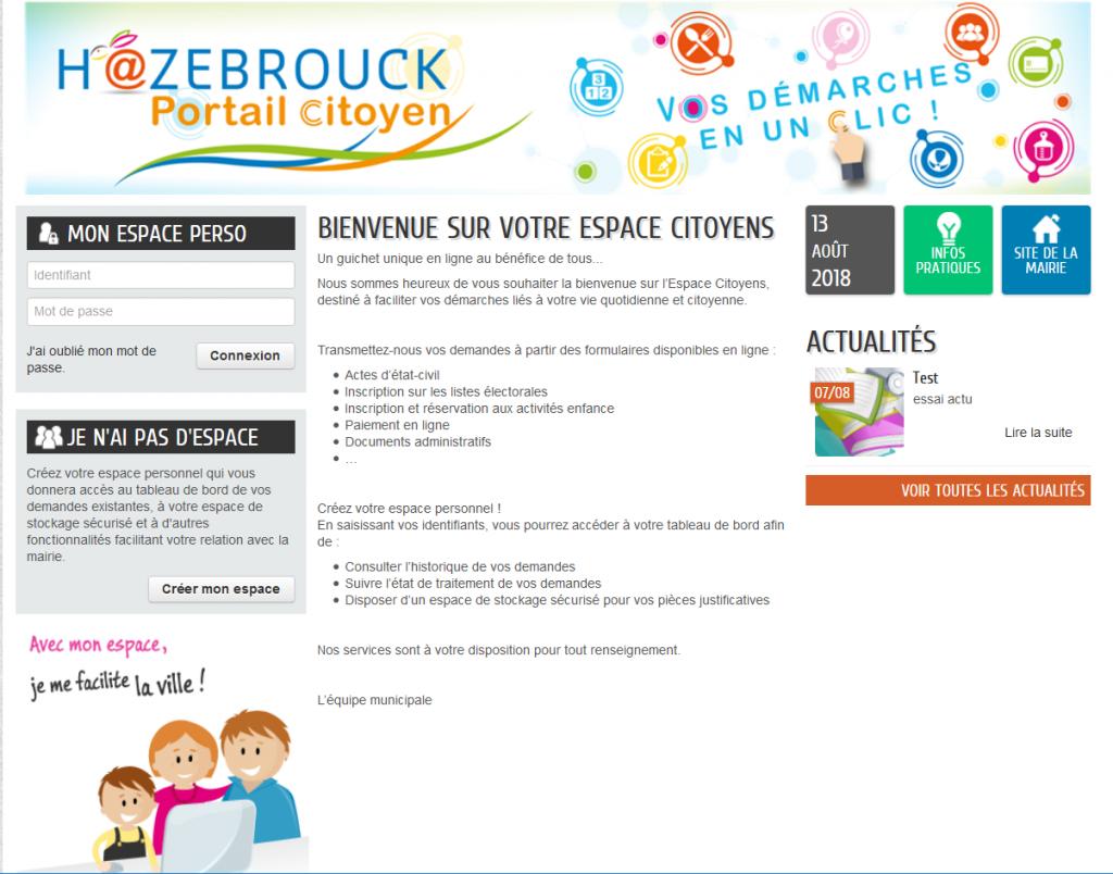 Hazebrouck portail citoyen, pour simplifier vos démarches administratives
