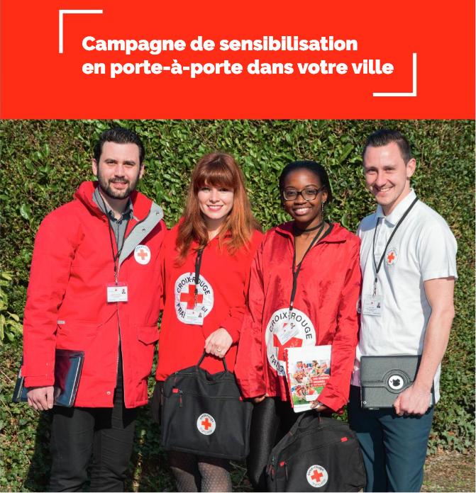 Campagne de sensibilisation Croix-Rouge française