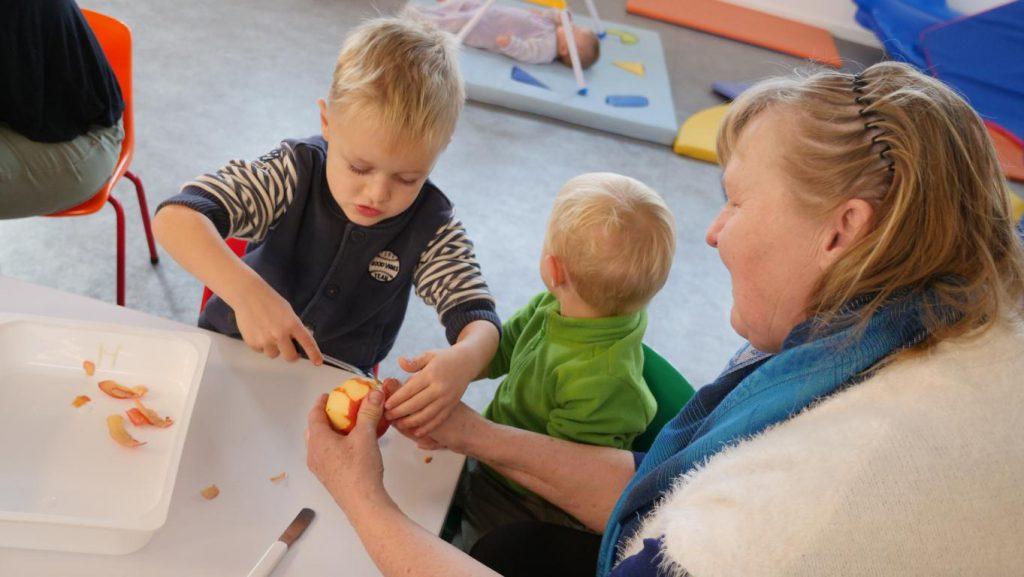 Atelier galette des rois au Jardin des enfants