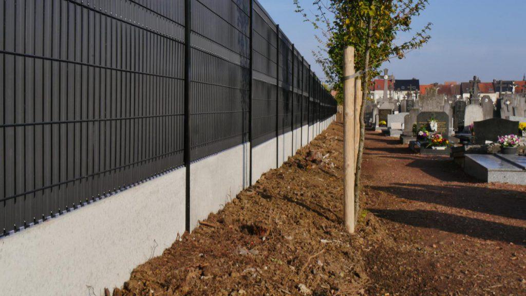 Une nouvelle clôture pour le cimetière Saint Eloi