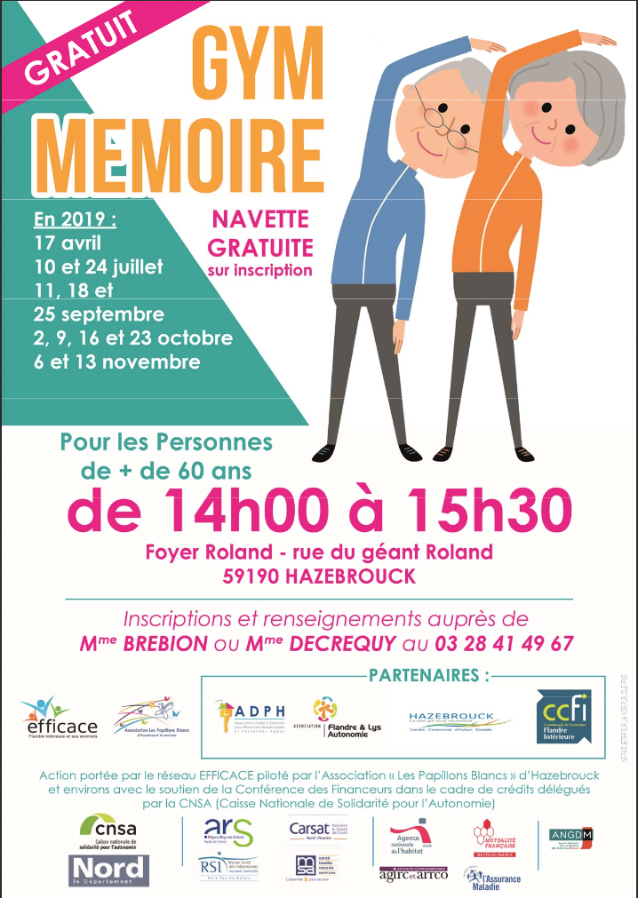 Ateliers gym mémoire seniors 2019
