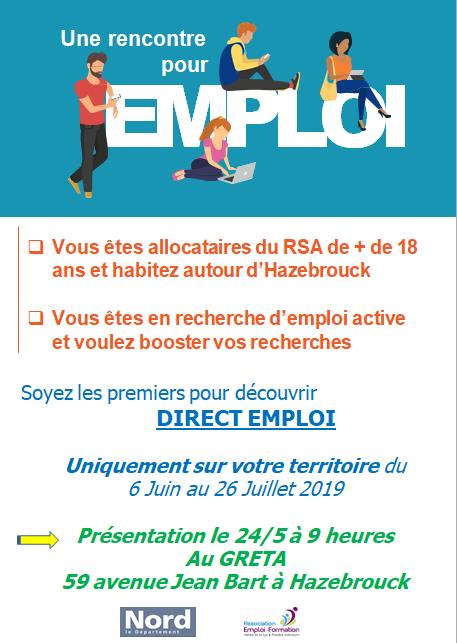 Réunion collective «Direct Emploi»
