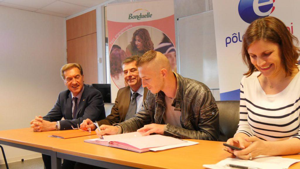 Signature d'un Emploi Franc avec l'entreprise Bonduelle