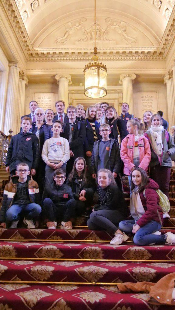 Le Conseil Municipal des Jeunes visite le Sénat