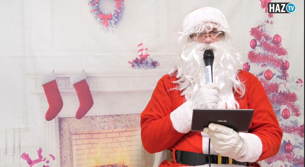 ? La chaise à questions avec le Père Noël