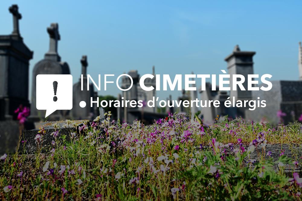 Les cimetières désormais ouverts toute la journée