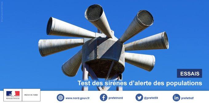 Test de déclenchement des sirènes d'alerte des populations