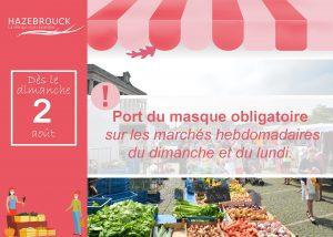 Port du Masque obligatoire sur les marchés