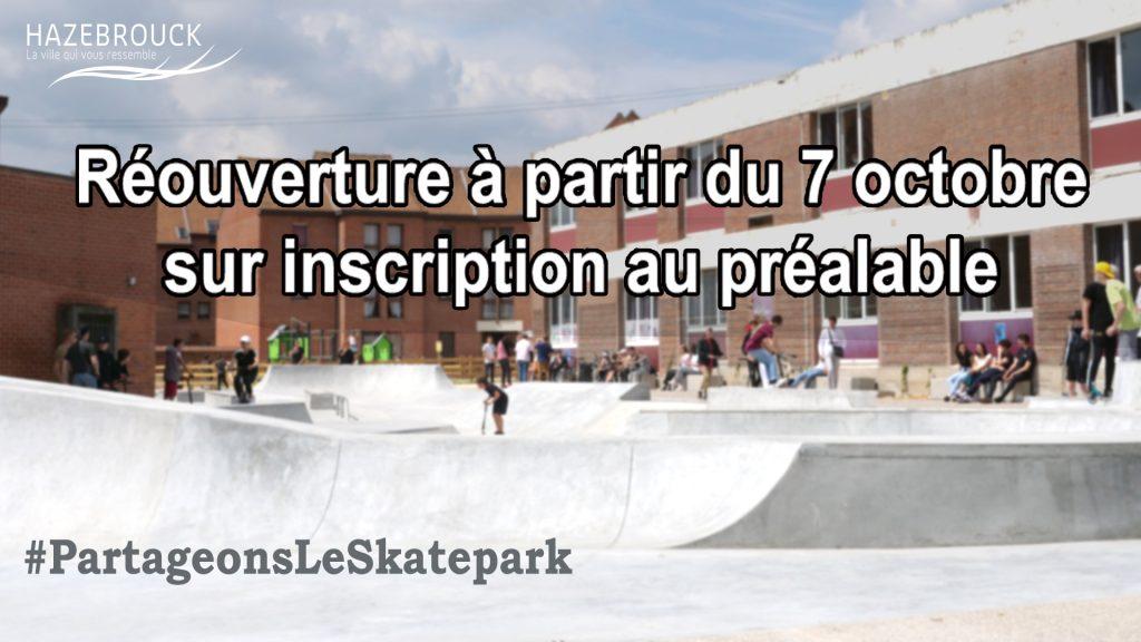Réouverture du Skate Park