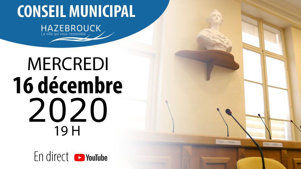 Conseil municipal du 16 décembre 2020