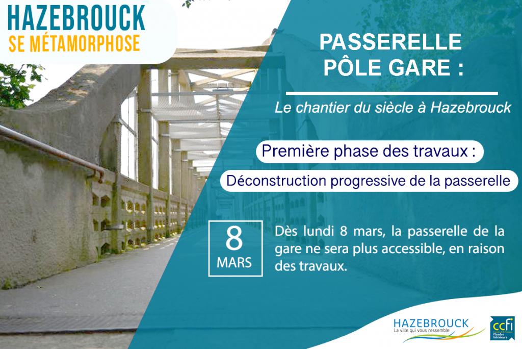 Passerelle Pôle Gare : le chantier commence !