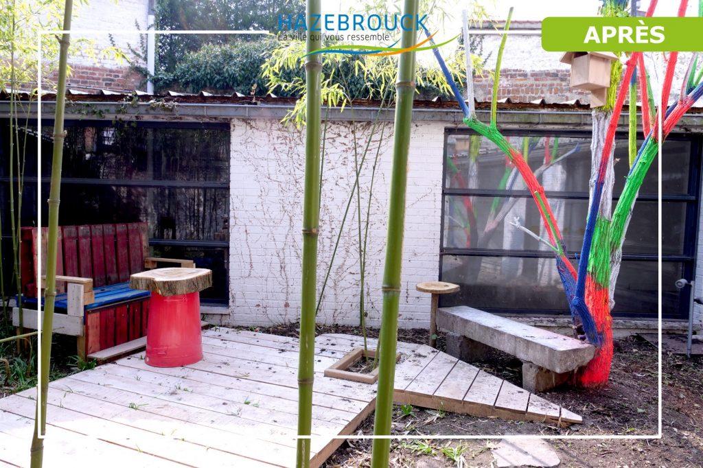 Le patio de la Friche Copin réaménagé