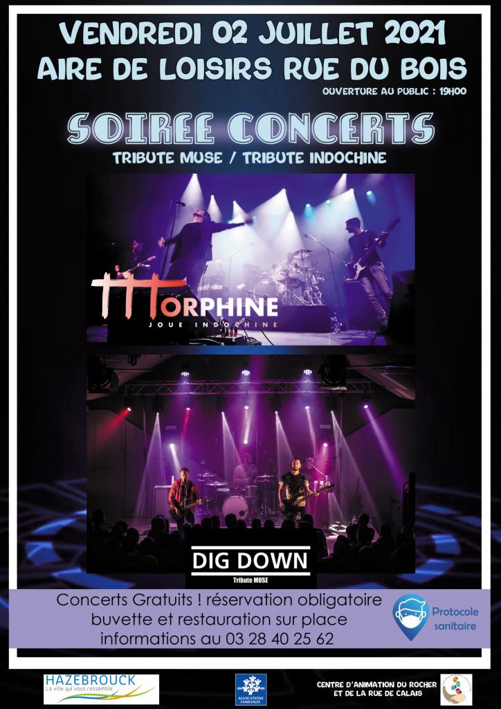 Soirée concerts tributes d'INDOCHINE et de MUSE.